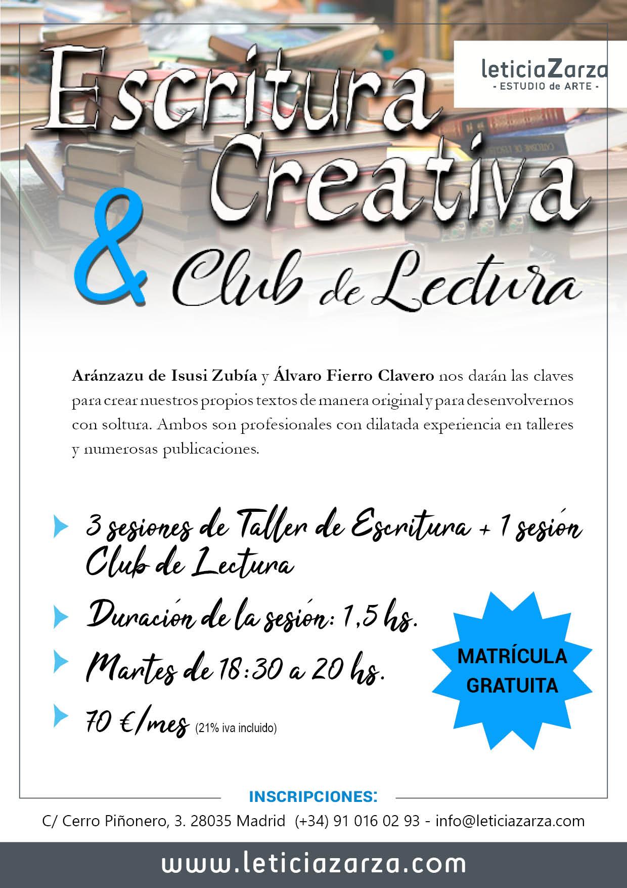 Taller Escritura Creativa y Club de Lectura