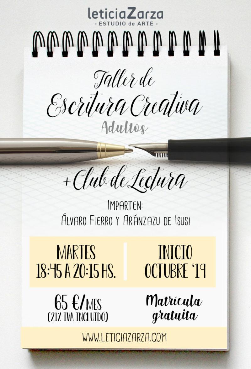 ESCRITURA CREATIVA Y CLUB DE LECTURA